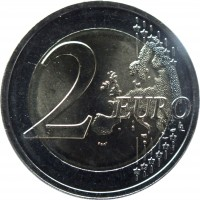 reverse of 2 Euro - Estonia's Road to Independence (2017) coin from Estonia. Inscription: 2 EURO LL