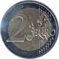 reverse of 2 Euro - Vidzeme (2016) coin with KM# 176 from Latvia. Inscription: 2 EURO LL