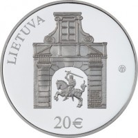 obverse of 20 Euro - Radziwiłł Palace (2017) coin with KM# 232 from Lithuania. Inscription: LIETUVA 20€