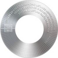 reverse of 5 Euro - The 100th Anniversary of the Restoration of Lithuania's Independence: Diplomacy (2018) coin from Lithuania. Inscription: 1918 03 23 VOKIETIJA PRIPAŽINO LIETUVOS NEPRIKLAUSOMYBĘ 1920 07 12 LIETUVOS IR SOVIETŲ RUSIJOS TAIKOS SUTARTIS 192