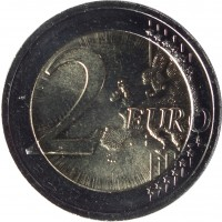 reverse of 2 Euro - Song and Dance Celebration (2018) coin from Lithuania. Inscription: 2 EURO LL