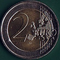 reverse of 2 Euro - 100 Years Since the 1st Meeting of Dail Eireann (2019) coin from Ireland. Inscription: 2 EURO LL