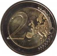 reverse of 2 Euro - Sutartinės: Lithuanian Multipart Songs (2019) coin from Lithuania. Inscription: 2 EURO LL