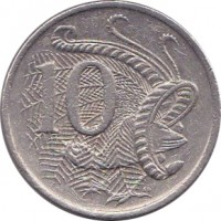 reverse of 10 Cents - Elizabeth II (1985 - 1998) coin with KM# 81 from Australia. Inscription: 10 SD