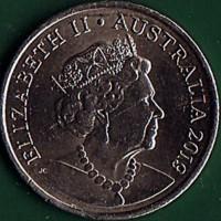 obverse of 10 Cents - Elizabeth II - 6th Portrait (2019 - 2020) coin from Australia. Inscription: ELIZABETH II AUSTRALIA 2019 JC