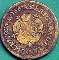 reverse of 1/2 Penny - George I (1722) coin with KM# 2 from United States.