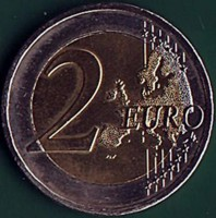 reverse of 2 Euros - Paphos - 2017 European Capital of Culture (2017) coin from Cyprus. Inscription: 2 EURO LL