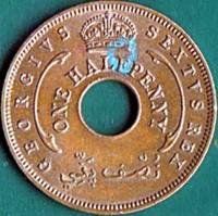 Bronze. coin  British West Africa