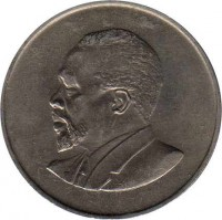 obverse of 1 Shilling - Without legend (1966 - 1968) coin with KM# 5 from Kenya.