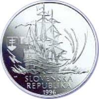 obverse of 200 Korún - Móric Beňovský (1996) coin with KM# 34 from Slovakia. Inscription: SLOVENSKÁ REPUBLIKA 1996