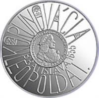 reverse of 200 Korún - Leopold I - 350th Anniversary of Coronation of Leopold I (2005) coin with KM# 81 from Slovakia. Inscription: KORUNOVÁCIA LEOPOLDA I. BRATISLAVA 1655