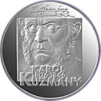 reverse of 200 Korún - Karol Kuzmány (2006) coin with KM# 87 from Slovakia. Inscription: KAROL 1806 1866 KUZMANY