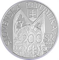 obverse of 200 Korún - Andrej Kmeť (2008) coin with KM# 88 from Slovakia. Inscription: SLOVENSKÁ REPUBLIKA 200 Sk 2008