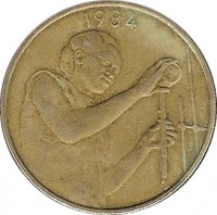 obverse of 25 Francs - FAO (1980 - 2013) coin with KM# 9 from Western Africa (BCEAO). Inscription: 1990