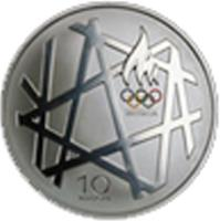 obverse of 10 Krooni - 2008 Summer Olympics in Bejing (2008) coin with KM# 48 from Estonia.