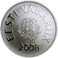 reverse of 10 Krooni - 2008 Summer Olympics in Bejing (2008) coin with KM# 48 from Estonia.