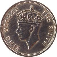 obverse of 20 Cents - George VI (1948 - 1950) coin with KM# 9 from Malaya. Inscription: KING GEORGE THE SIXTH