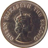 obverse of 1/4 Shilling - Elizabeth II - 1'st Portrait (1957 - 1960) coin with KM# 22 from Jersey. Inscription: QUEEN ELIZABETH THE SECOND
