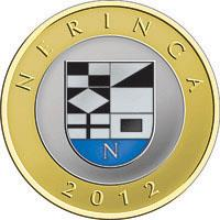 reverse of 2 Litai - Lithuanian resorts - Neringa - Colourized (2012) coin with KM# 185.2 from Lithuania. Inscription: NERINGA 2012