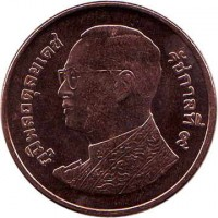 obverse of 50 Satang - Rama IX (2008 - 2016) coin with Y# 442 from Thailand.