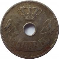 obverse of 10 Bani - Carol I (1905 - 1906) coin with KM# 32 from Romania. Inscription: ROMANIA J