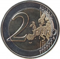 reverse of 2 Euro - Ionian Islands (2014) coin with KM# 269 from Greece. Inscription: 2 EURO