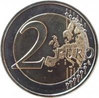 reverse of 2 Euro - Domenikos Theotokopoulos (2014) coin with KM# 259 from Greece. Inscription: 2 EURO