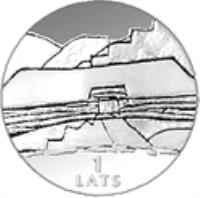 reverse of 1 Lats - Earth (2000) coin with KM# 47 from Latvia. Inscription: 1 LATS