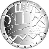 obverse of 1 Lats - Heaven (2001) coin with KM# 51 from Latvia. Inscription: LATVIJAS REPUBLIKA 2001