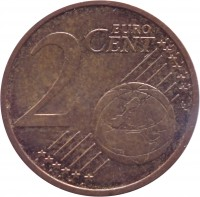 reverse of 2 Euro Cent (2014 - 2015) coin with KM# 151 from Latvia. Inscription: 2 EURO CENT LL