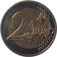 reverse of 2 Euro (2014 - 2015) coin with KM# 157 from Latvia. Inscription: 2 EURO LL
