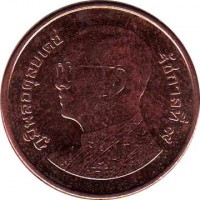 obverse of 25 Satang - Rama IX (2008 - 2015) coin with Y# 441 from Thailand.