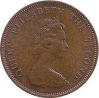 obverse of 2 New Pence - Elizabeth II - 2'nd Portrait (1971 - 1980) coin with KM# 31 from Jersey. Inscription: QUEEN ELIZABETH THE SECOND