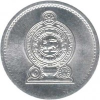 obverse of 1 Cent (1975 - 1994) coin with KM# 137 from Sri Lanka.