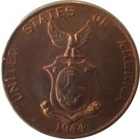 obverse of 1 Centavo - U.S. Administration (1937 - 1944) coin with KM# 179 from Philippines. Inscription: UNITED STATES OF AMERICA S 1944