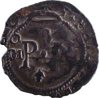 obverse of 1/2 Real - Felipe III (1607 - 1621) coin with KM# 21 from Mexico.