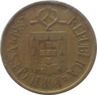 obverse of 10 Escudos (1986 - 2001) coin with KM# 633 from Portugal. Inscription: REPUBLICA PORTUGUESA 1998