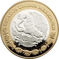 obverse of 100 Pesos - Villa revolutionary coin (2011) coin with KM# 954 from Mexico. Inscription: ESTADOS UNIDOS MEXICANOS