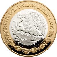 obverse of 100 Pesos - Moneda de balanza (2013) coin with KM# 973 from Mexico. Inscription: ESTADOS UNIDOS MEXICANOS