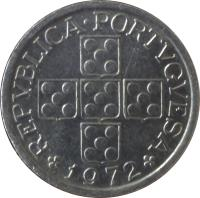 obverse of 10 Centavos (1969 - 1979) coin with KM# 594 from Portugal. Inscription: REPUBLICA PORTVGVESA 1977