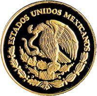 obverse of 1/20 Onza - Gold Bullion (1999) coin with KM# 642 from Mexico. Inscription: ESTADOS UNIDOS MEXICANOS