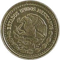 obverse of 1/20 Onza - Gold Bullion (2000 - 2009) coin with KM# 671 from Mexico. Inscription: ESTADOS UNIDOS MEXICANOS