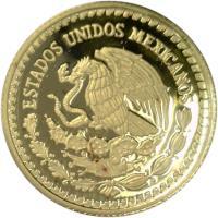 obverse of 1/10 Onza - Libertad Gold Bullion (2000 - 2011) coin with KM# 672 from Mexico. Inscription: ESTADOS UNIDOS MEXICANOS