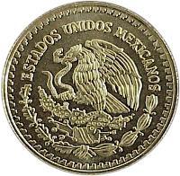 obverse of 1/4 Onza - Libertad Gold Bullion (2000 - 2009) coin with KM# 673 from Mexico. Inscription: ESTADOS UNIDOS MEXICANOS