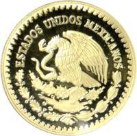 obverse of 1/2 Onza - Libertad Gold Bullion (2000 - 2009) coin with KM# 674 from Mexico. Inscription: ESTADOS UNIDOS MEXICANOS