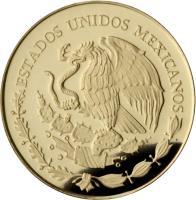 obverse of - Fusión Cultural: Cacao - Gold Bullion (2011) coin with KM# 959 from Mexico. Inscription: ESTADOS UNIDOS MEXICANOS