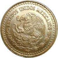 obverse of 1/10 Onza - Libertad Gold Bullion (1991 - 1994) coin with KM# 541 from Mexico. Inscription: ESTADOS UNIDOS MEXICANOS