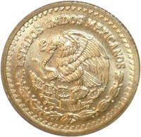 obverse of 1/20 Onza - Libertad Gold Bullion (1991 - 1994) coin with KM# 589 from Mexico. Inscription: ESTADOS UNIDOS MEXICANOS