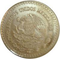 obverse of 1/4 Onza - Libertad Gold Bullion (1991 - 1994) coin with KM# 590 from Mexico. Inscription: ESTADOS UNIDOS MEXICANOS