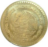 obverse of 1/2 Onza - Libertad Gold Bullion (1991 - 1994) coin with KM# 591 from Mexico. Inscription: ESTADOS UNIDOS MEXICANOS